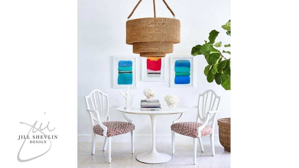 Jill Shevlin Design Interior Designer Vero Beach Florida Modern Dining Saarinen Table