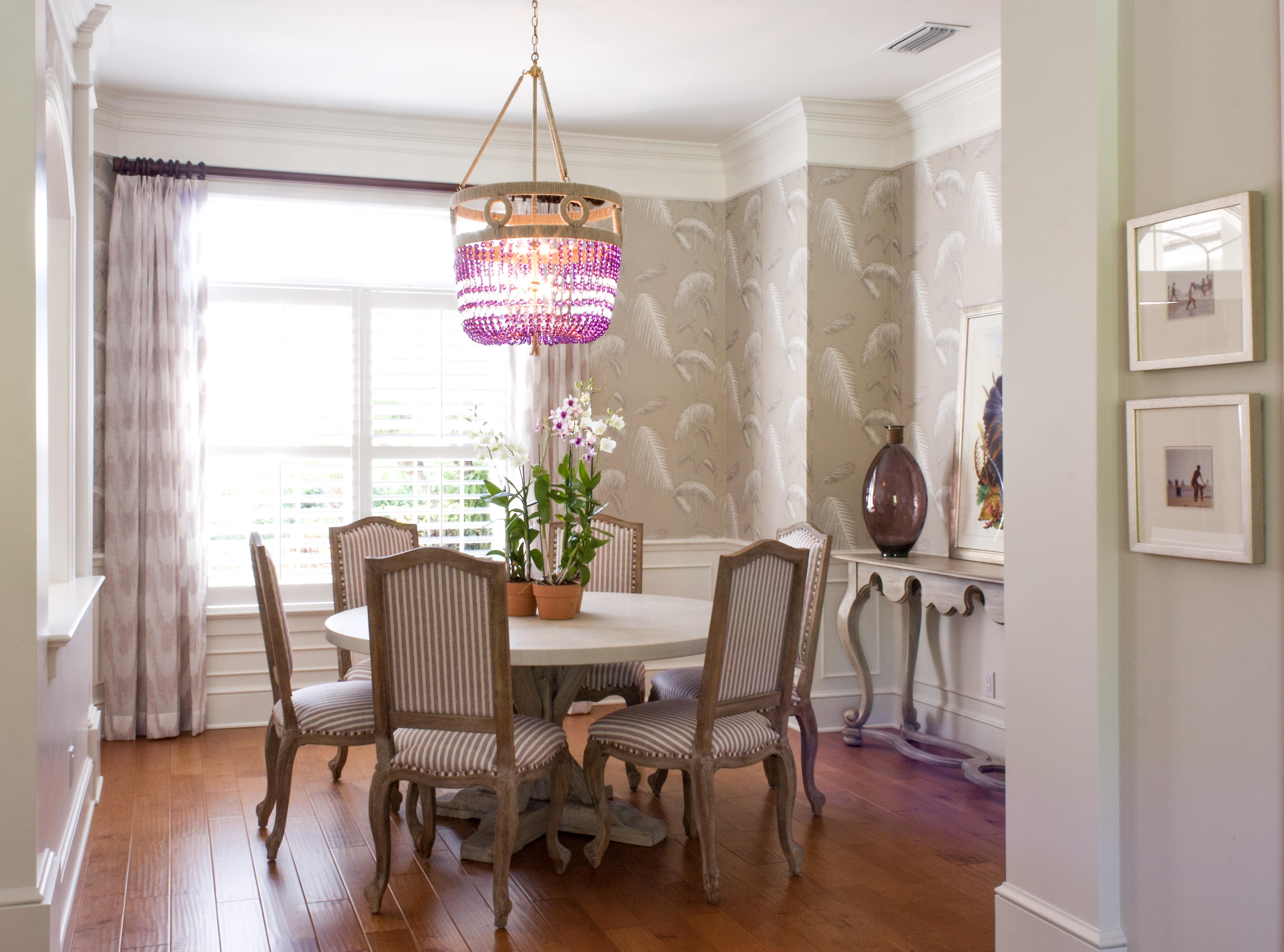 Jill Shevlin Design Vero Beach Interior Designer Purple Palm Dining