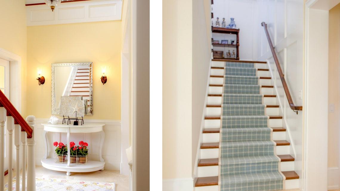 Jill Shevlin Design Interior Designer Vero Beach Entry Staircase