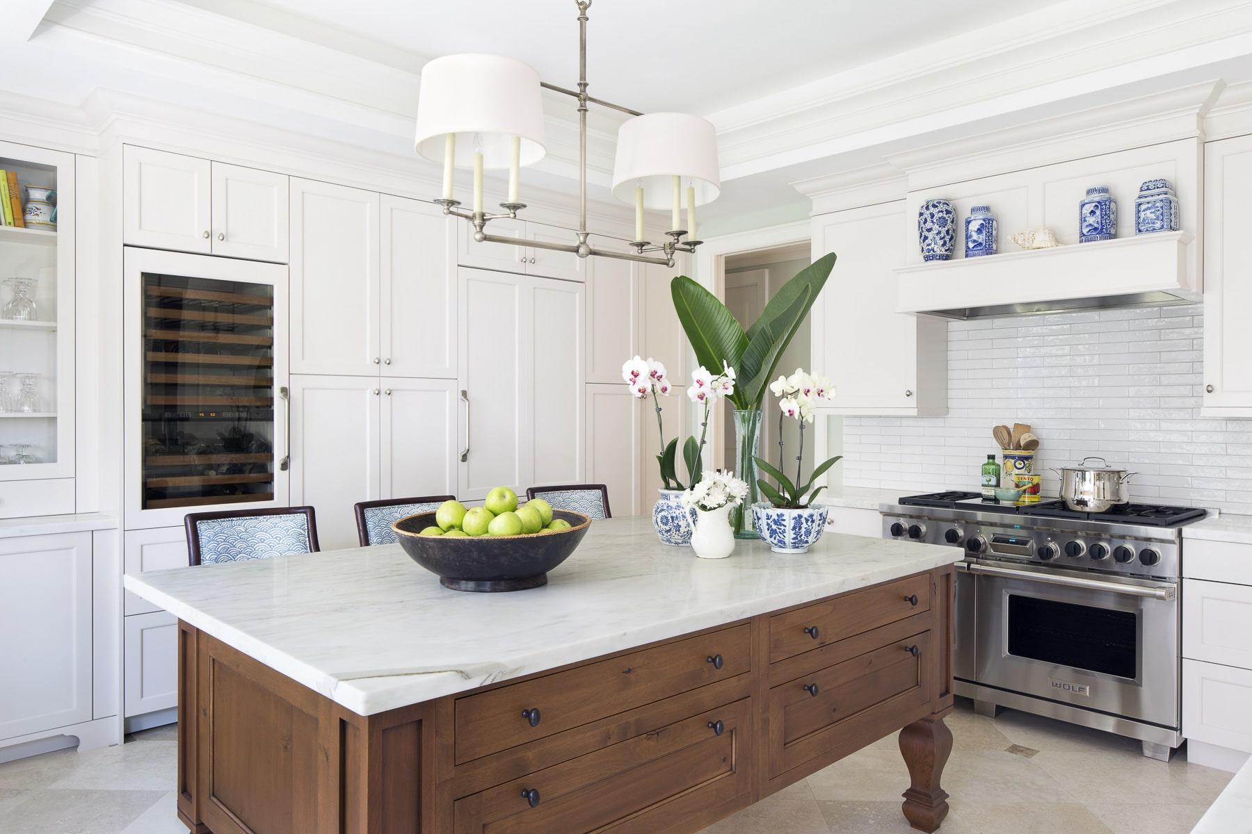 Jill Shevlin Design Kitchen Blue and White Remodel Vero Beach FL