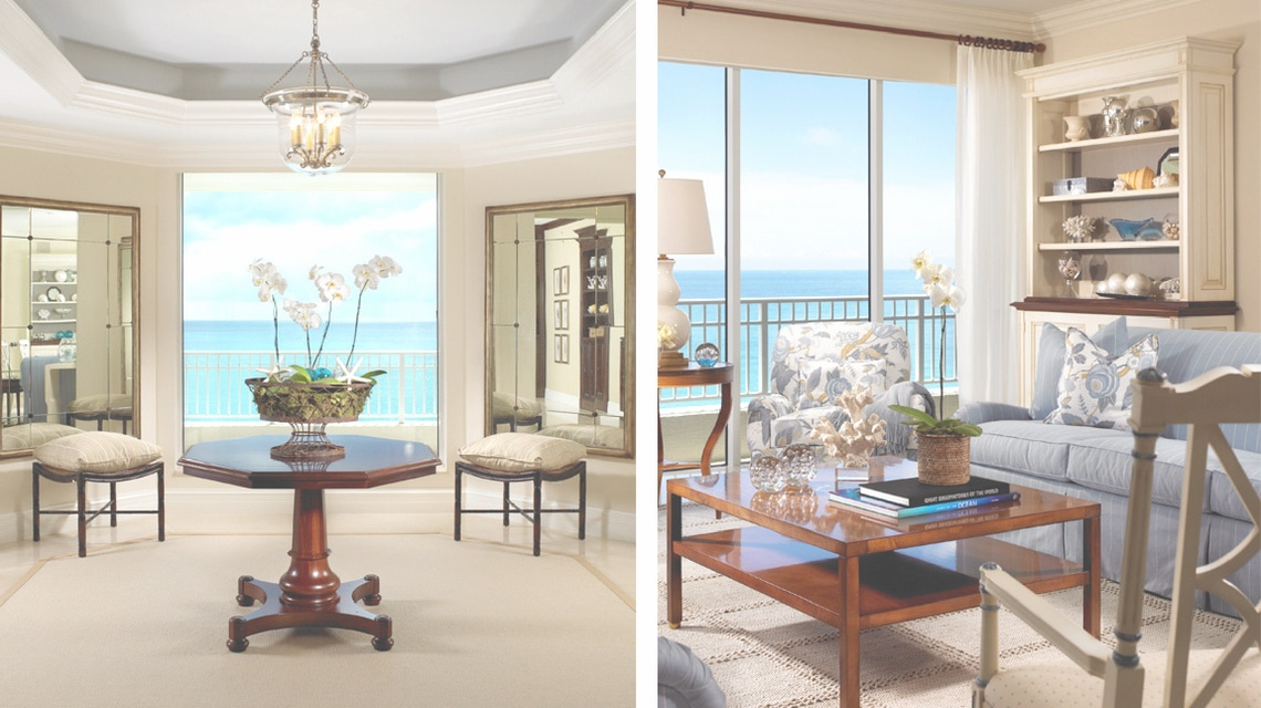 Jill Shevlin Design Ocean Front Living Room Jupiter Island Florida