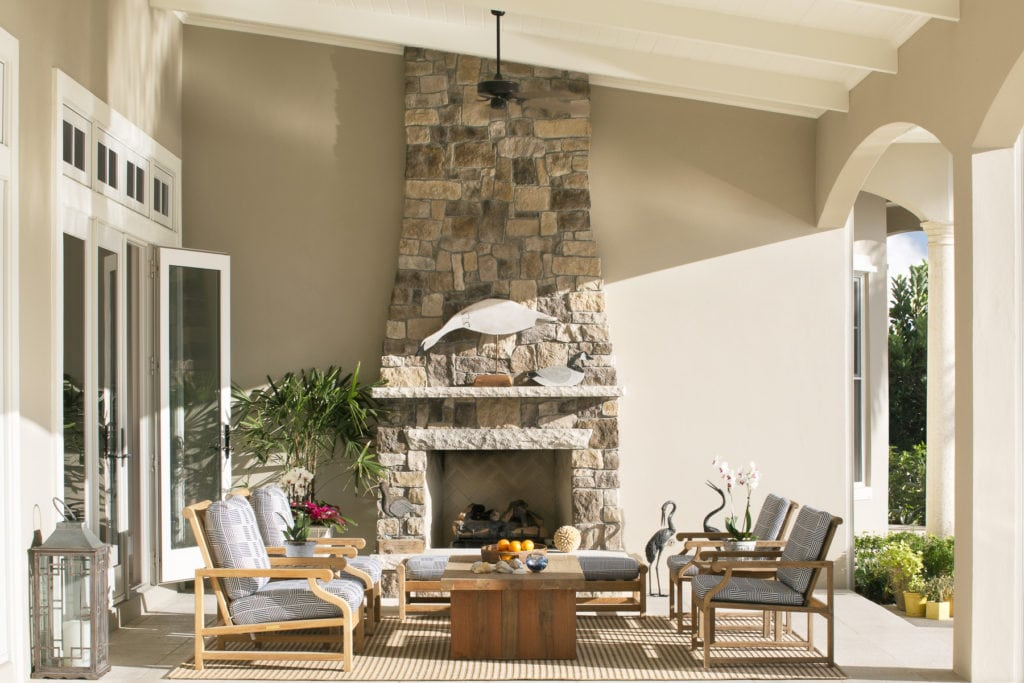 Jill Shevlin Design Outdoor Fireplace Seating
