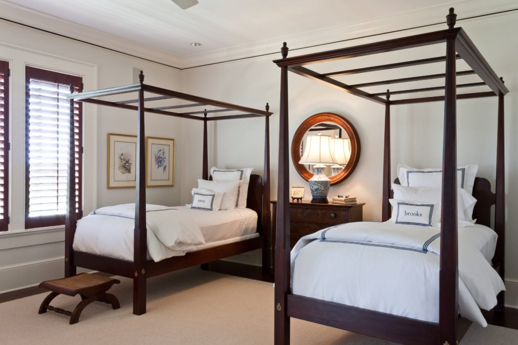 Twin Four Poster Mahagany Beds