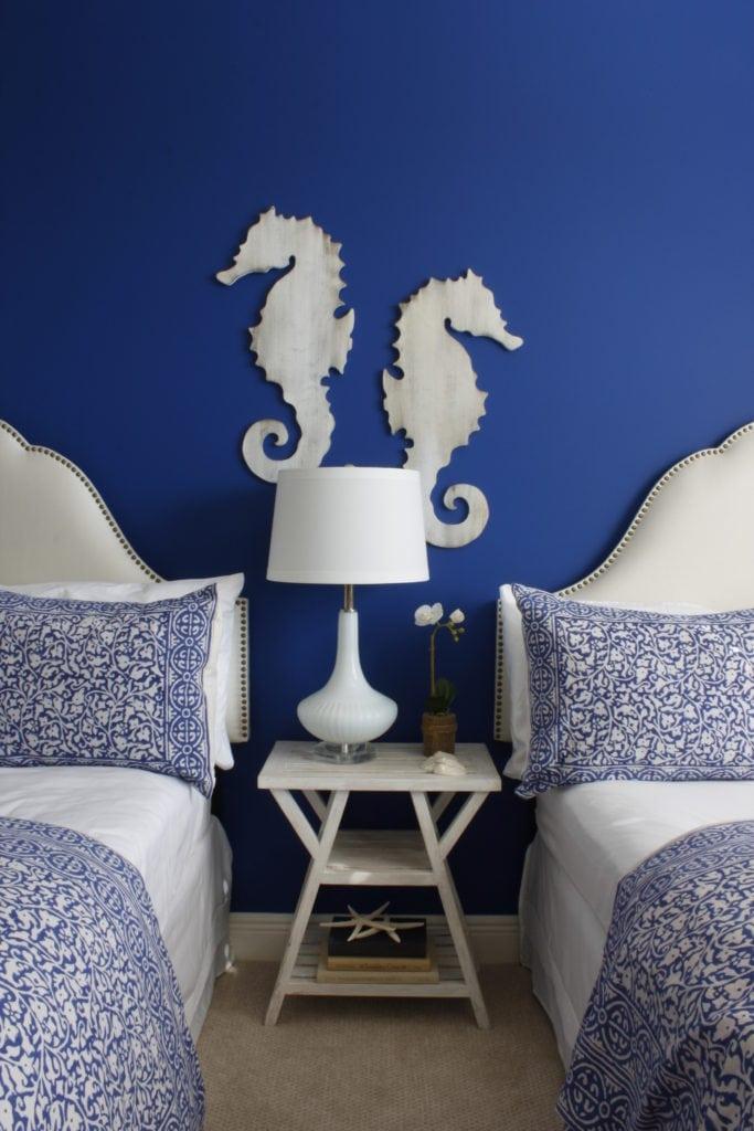 Navy Blue Walls Sea Horse on Walls
