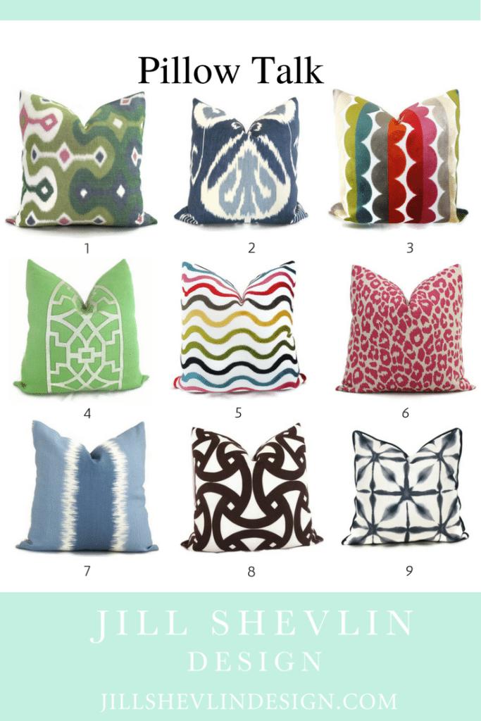 Jill Shevlin Design Blog Designer Pillows
