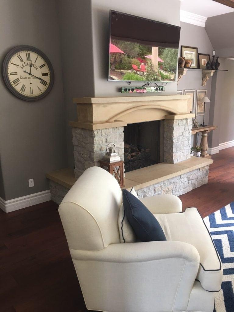 Fireplace Before Renovation
