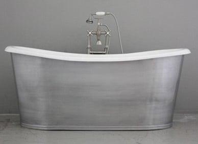 Brushed Nickel Tub, Jill Shevlin Design Freestanding Tubs, New Home Construction Vero Beach, Remodel Vero Beach
