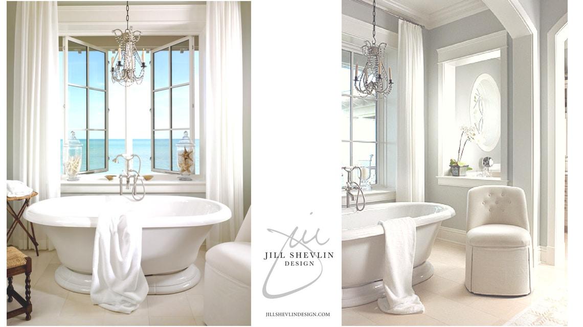 Ocean Front Master Bath Jill Shevlin Design Vero Beach Interior Designer