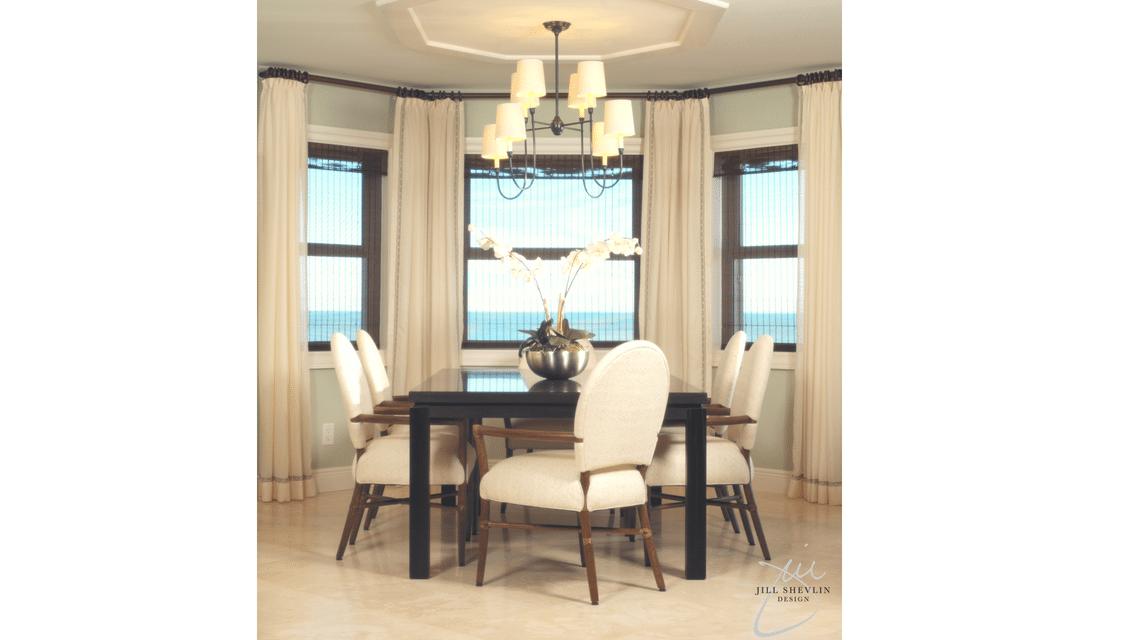 Jill Shevlin Design Vero Beach  Interior Designer Ocean Front Dining Room
