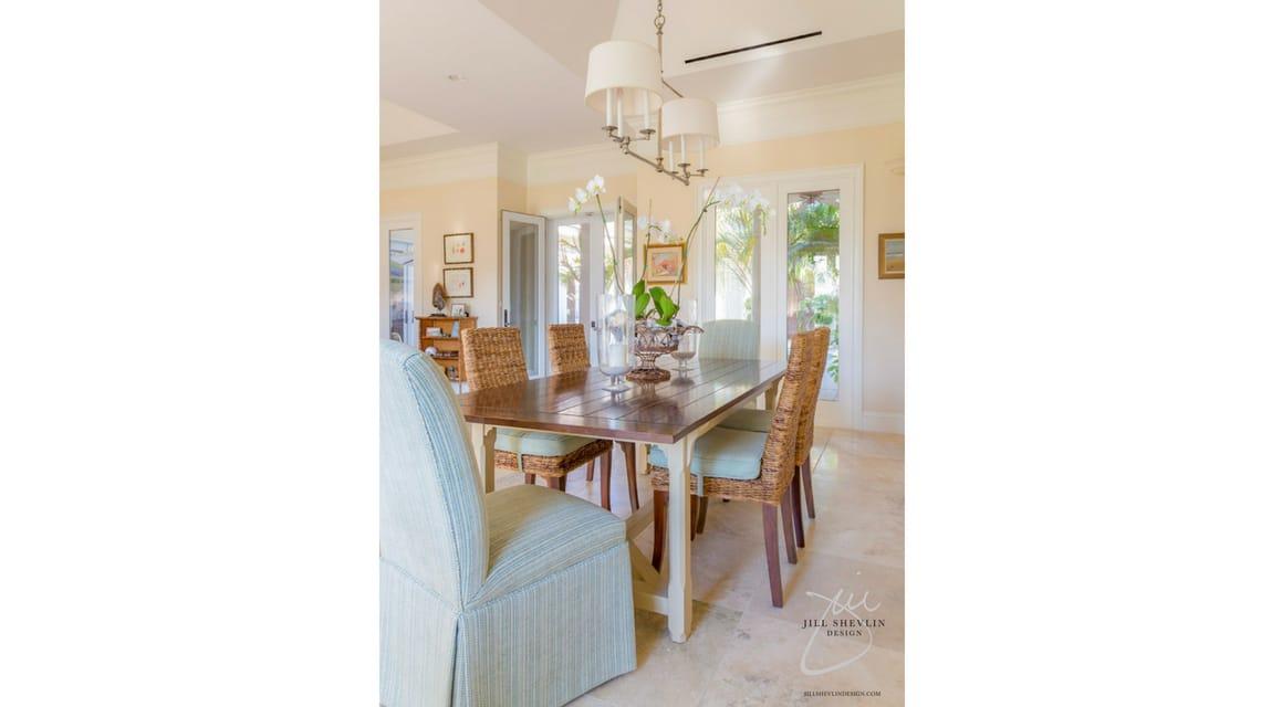 Jill Shevlin Design Vero beach Interior Designer Orchid Island Casual Dining