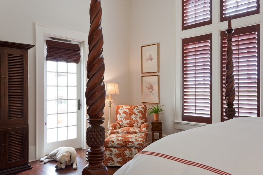 Mahogany West Indies Style Four Poster Bed