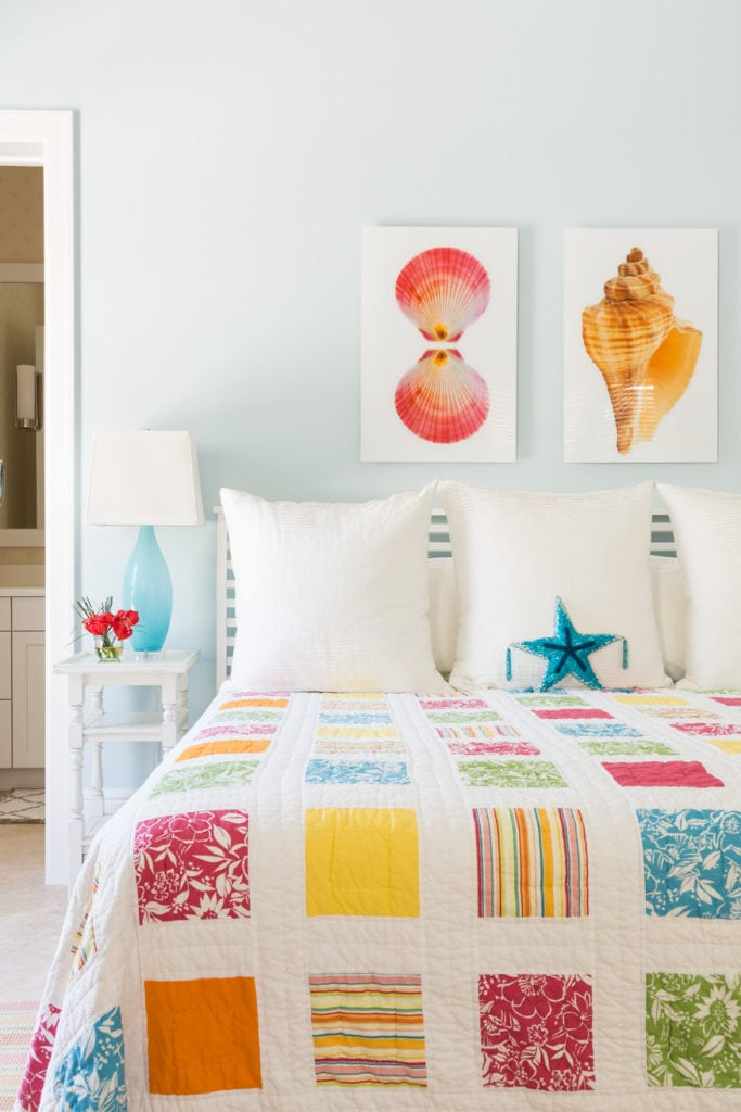 Seashells and Patchwork Quilt