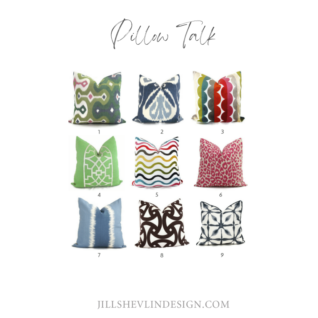 Pillows with Bold Prints