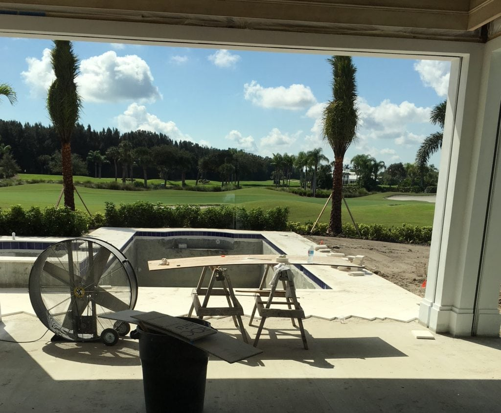 Jill Shevlin Design, Vero Beach Interior Design Before of a new construction project pool view