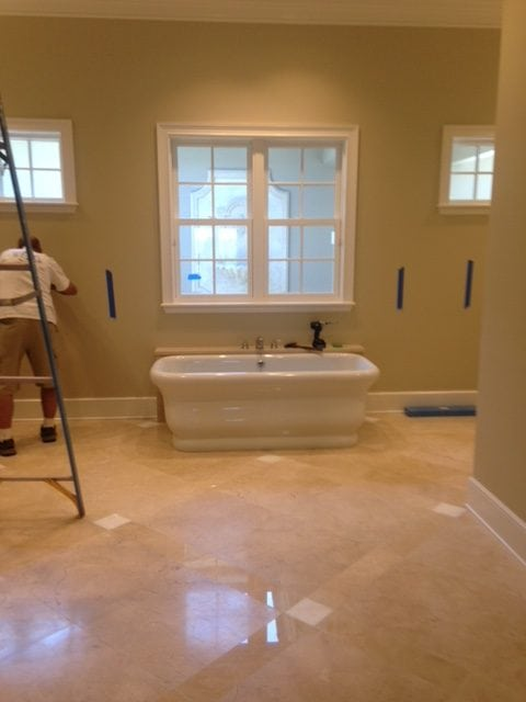 Tub Install Master Bath Renovation