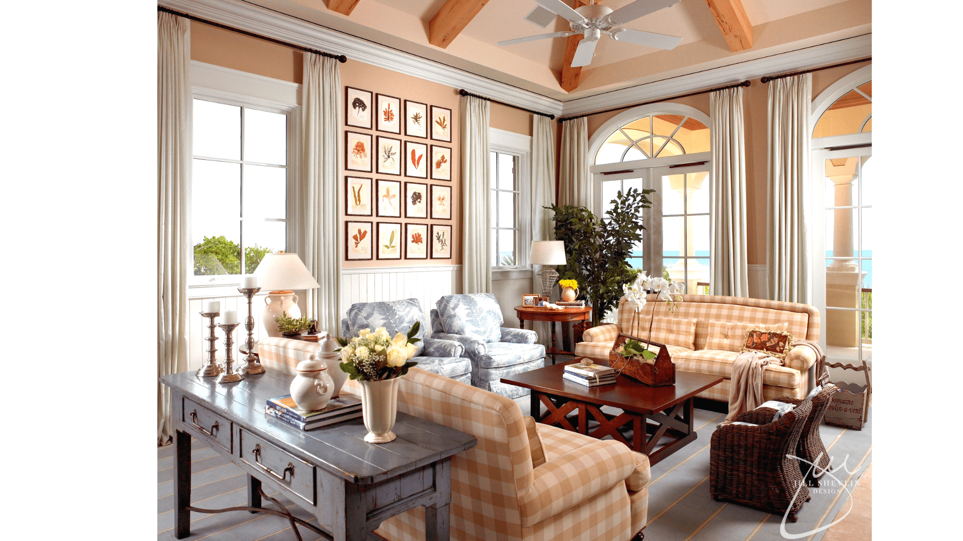 Jill Shevlin Design Coastal Family Room Vero Beach Interior Designer Vero Beach Decorator