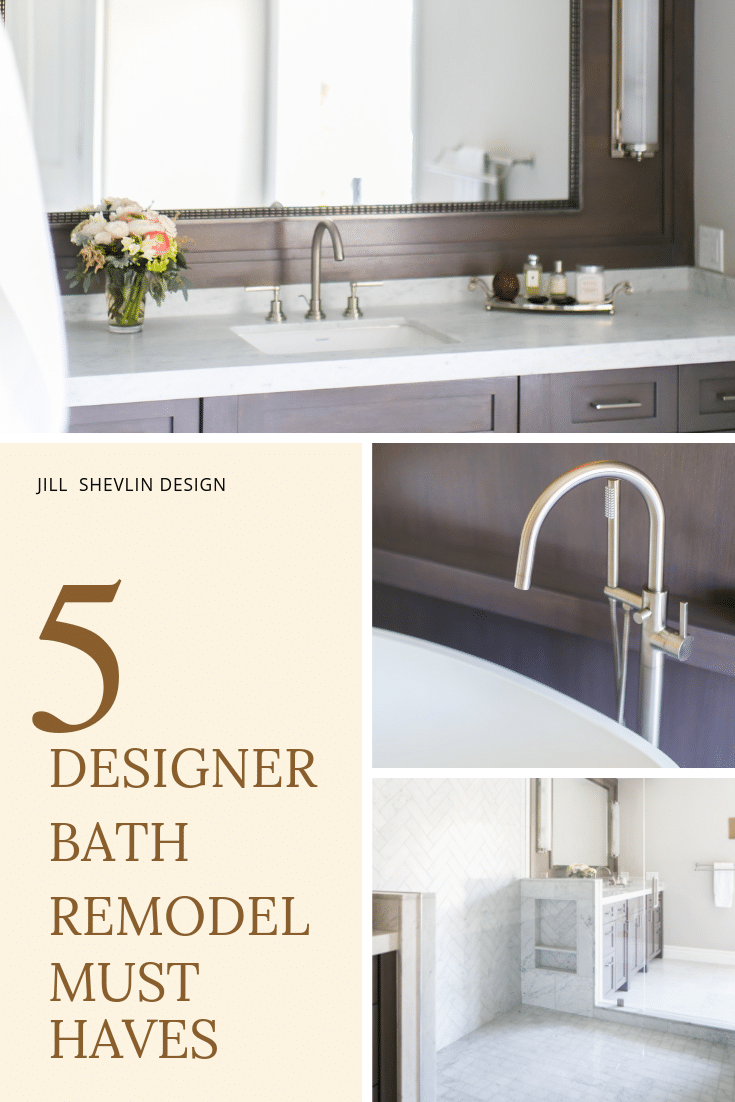 Designer Bath Remodel Must Haves in a Before & After Bathroom Remodel Jill Shevlin Design Vero Beach Interior Designer