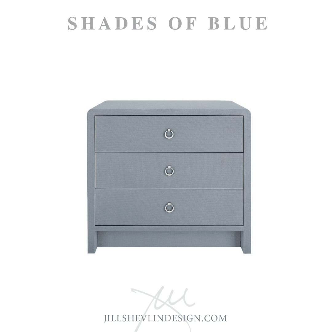 Chest Night stand in Blue Shades of Blue Jill Shevlin Design Vero Beach Interior Designer Vero Beach Coastal Home