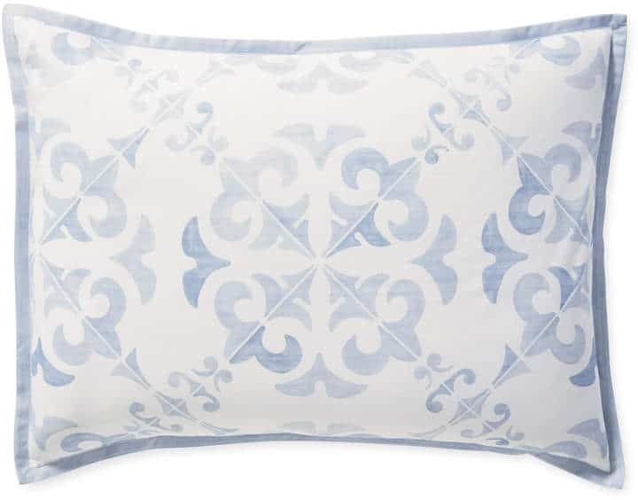 Pillow Shop Jill Shevlin Design Blue Print Pillow Vero Beach Interior Designer Vero Beach Home Decor