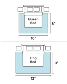 bedroom rug size guide jill shevlin design vero beach home decor vero beach interior designer