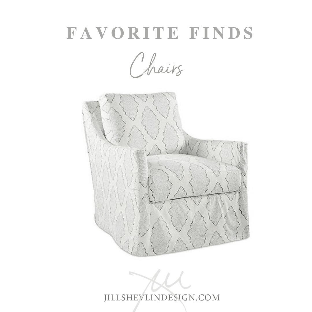 Pretty Print Chair Soft Blue with Batik Style print shop designer home furniture jill shevlin design vero beach florida