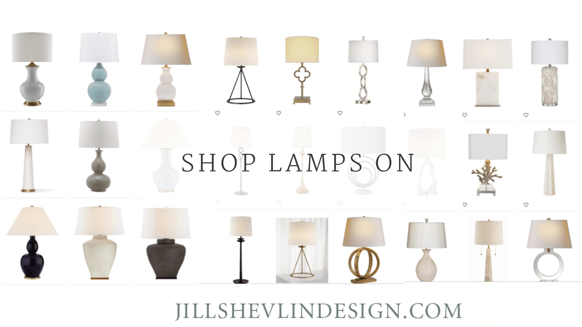 Crystal Lamps, Ceramic Lamps, Metal Lamps, Shop Lamps from Vero Beach Designer Jill Shevlin for your Vero Beach Coastal Home Decor Traditional Home Decorating