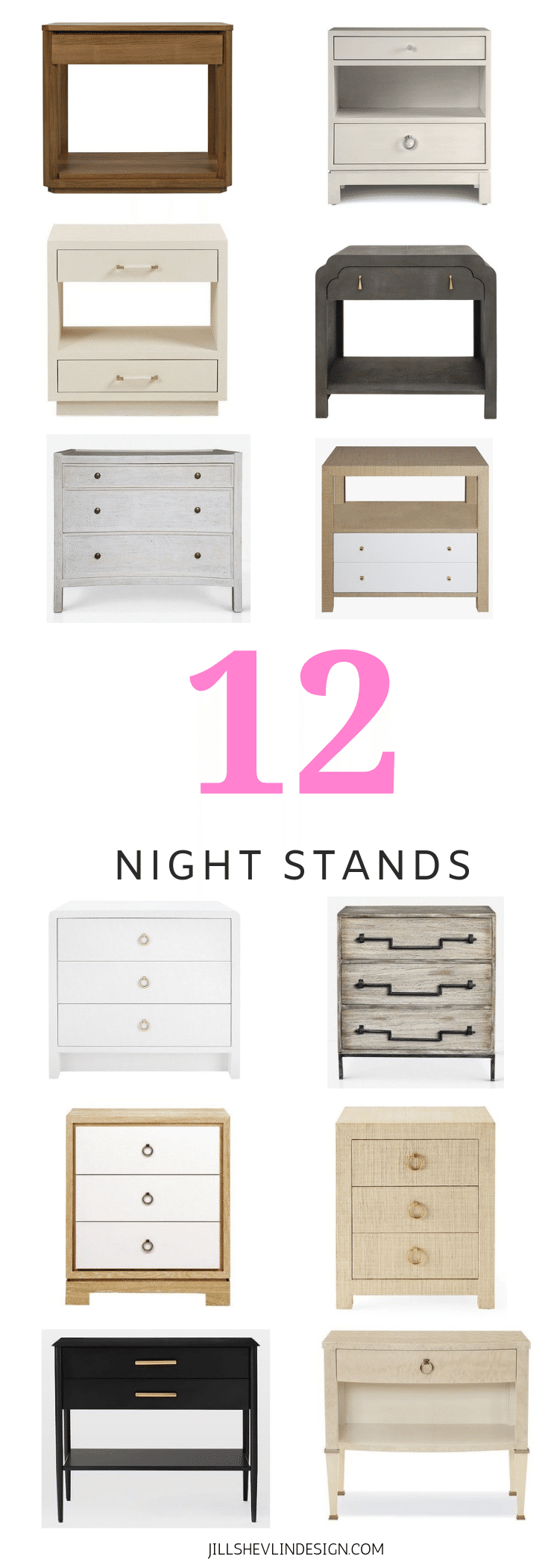 12 Nightstands Shop Night Stands Side Tables Vero Beach Coastal Home Decor Jill Shevlin Design Vero Beach
