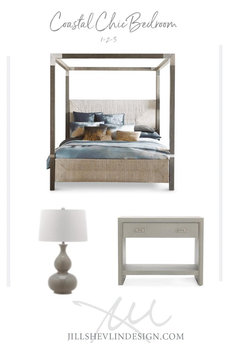 Bedroom Makeover Coastal Chic in gray Jill Shevlin Design Vero Beach Interior Designer