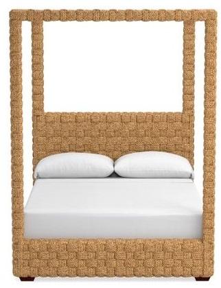 Woven Four Poster Bed Shop Coastal Home Decor Vero Beach Interior Designer Jill shelvin Design