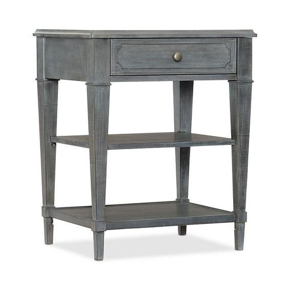 gray night table two shelves one drawer shop bedroom furniutre vero beach jill shevlin design