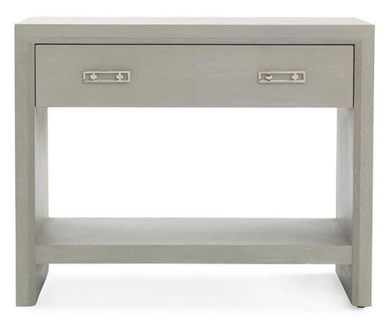 night side table gray one drawer one shelf shop bedroom furniture vero beach jill shevlin design