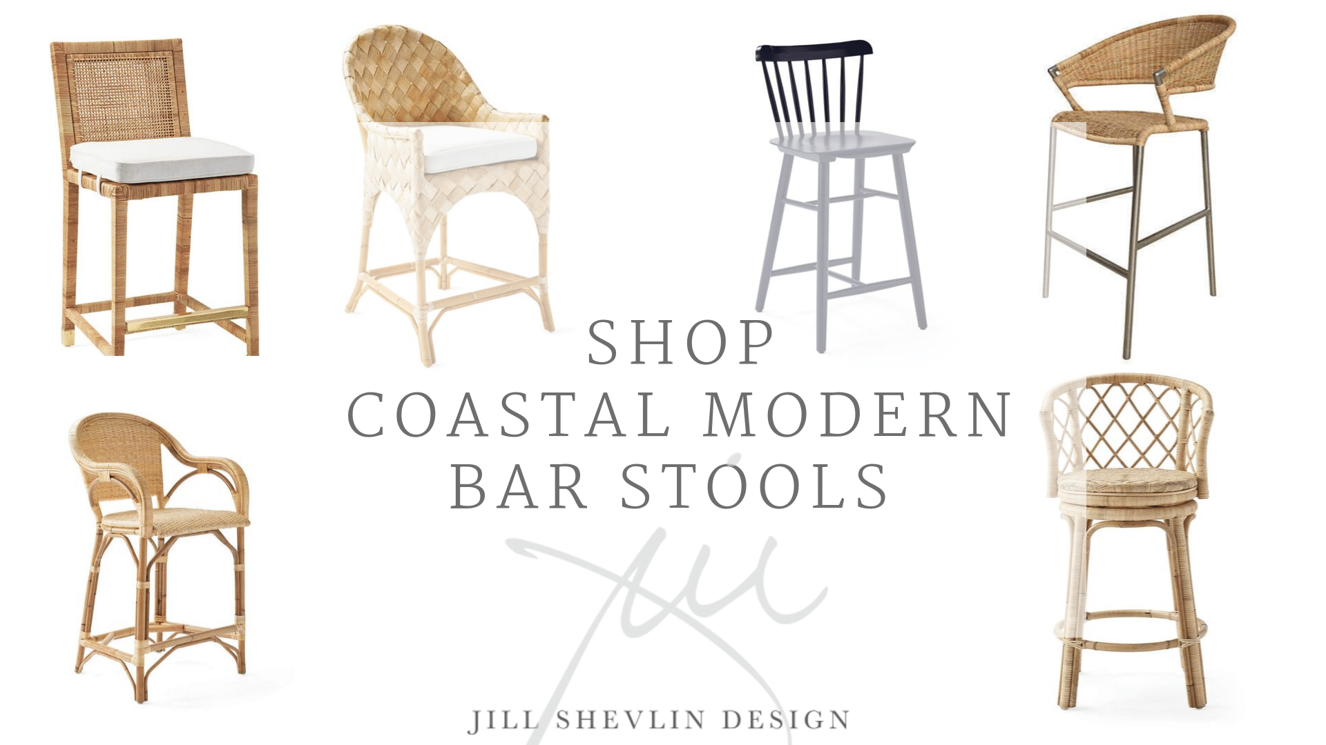 Coastal Modern Bar Stools Home Decor and FurnitureJill Shevlin Design