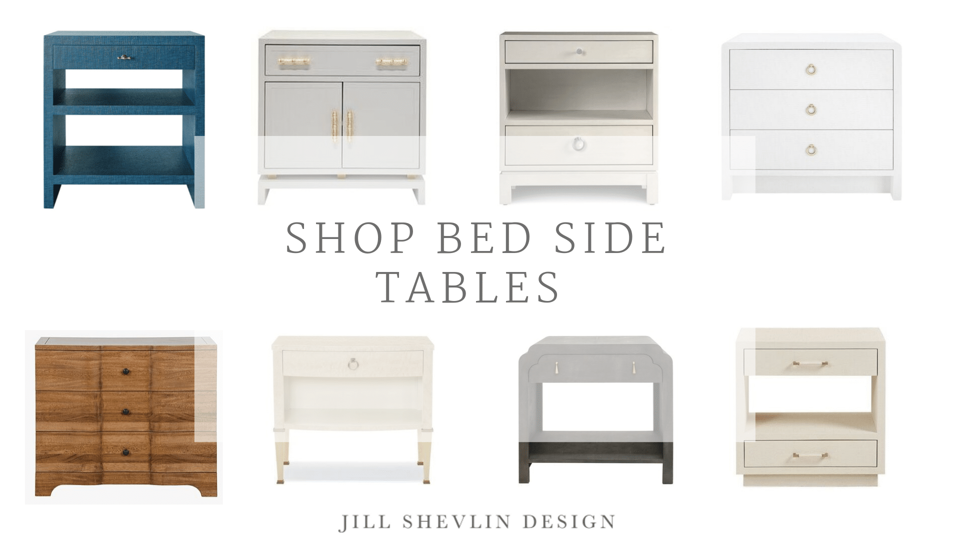 Shop Night Stands Bed side table coastal modern jill shevlin design