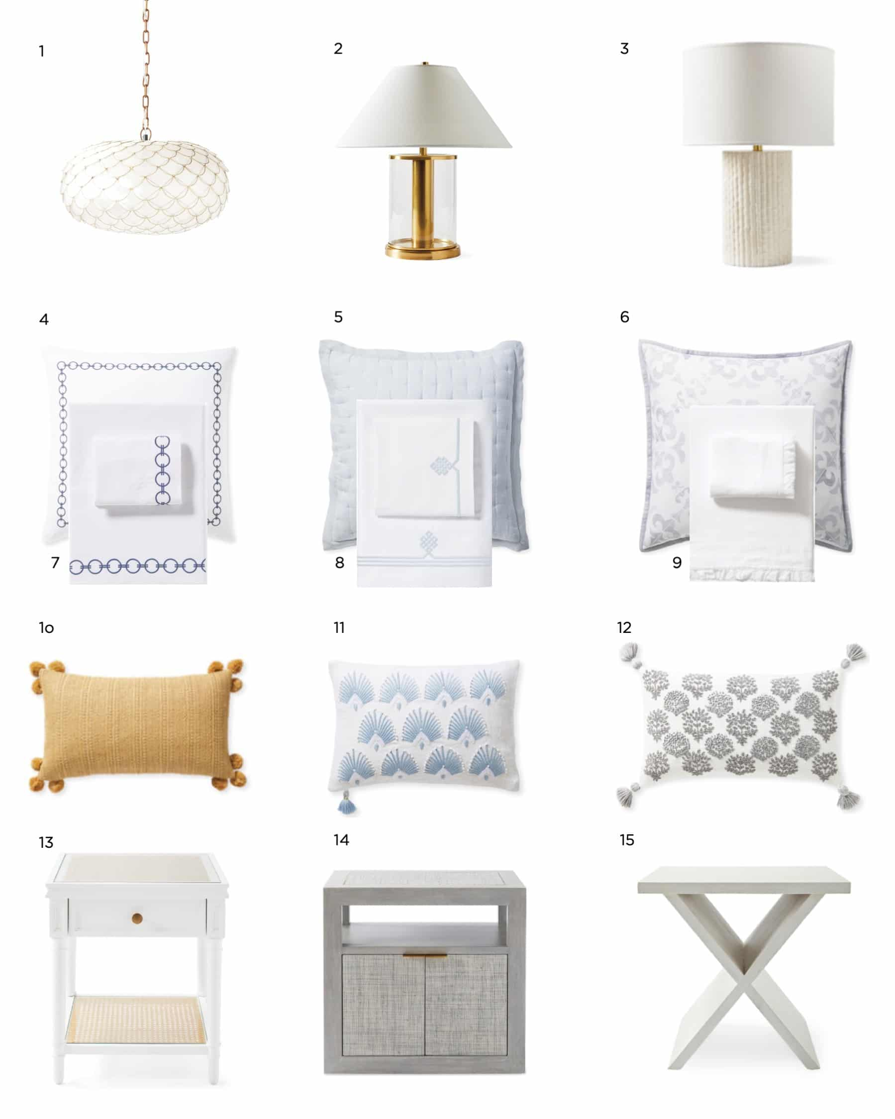 Guest Ready Bedroom Accents Pillows Lamps Sheets Jill Shevlin Design Vero Beach