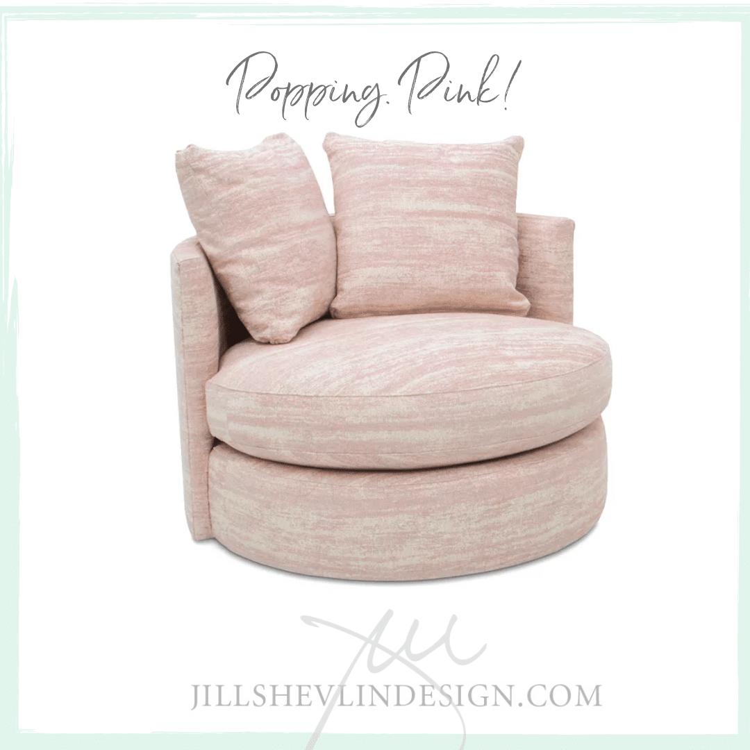 Pops of Pink Shop Designer Furniture Vero Beach Jill Shelvin Design