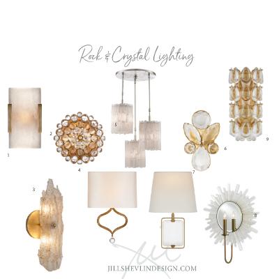 Home Glam – Rock & Crystal Lighting