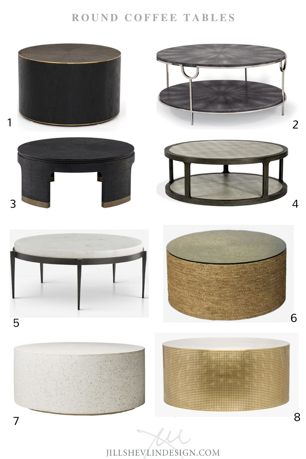 Round Coffee Tables Shop Desinger Approved Coffee Tables of all Shapes and Sizes Jill Shelvin Design Vero Beach interior designer)