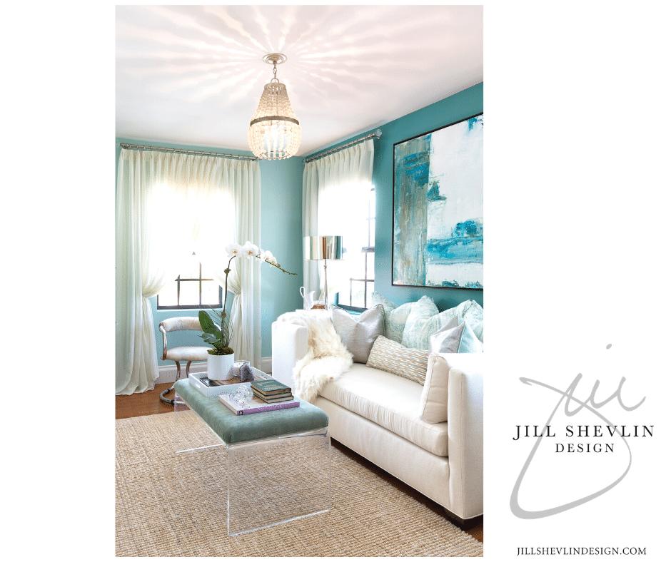 Jill Shevlin Design Vero Beach  Interior Designer Palm Beach Showhouse Lucite Bench Home Furnishings