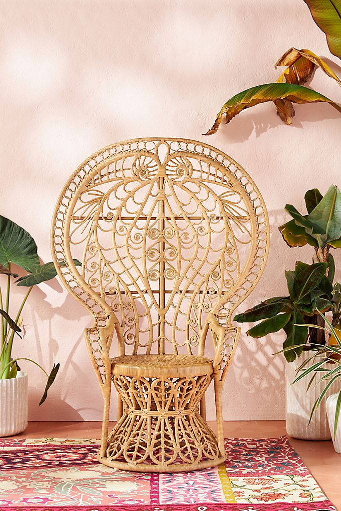 ten tips too add wicker and rattan to your home decor jill shevlin design Atrho Peacock Chair