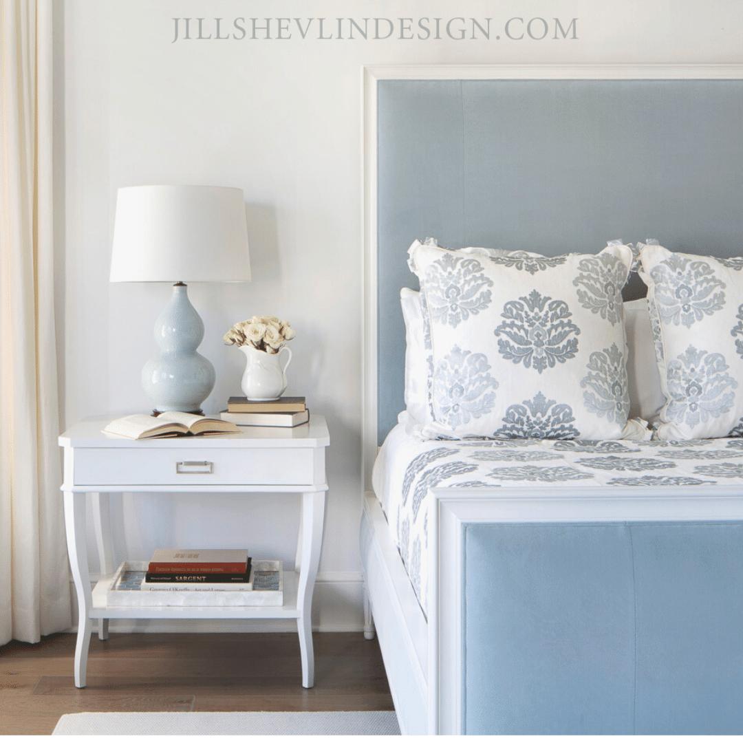 Luxury Master Bedroom In Blue Jill Shevlin Design Vero Beach Interior Designer