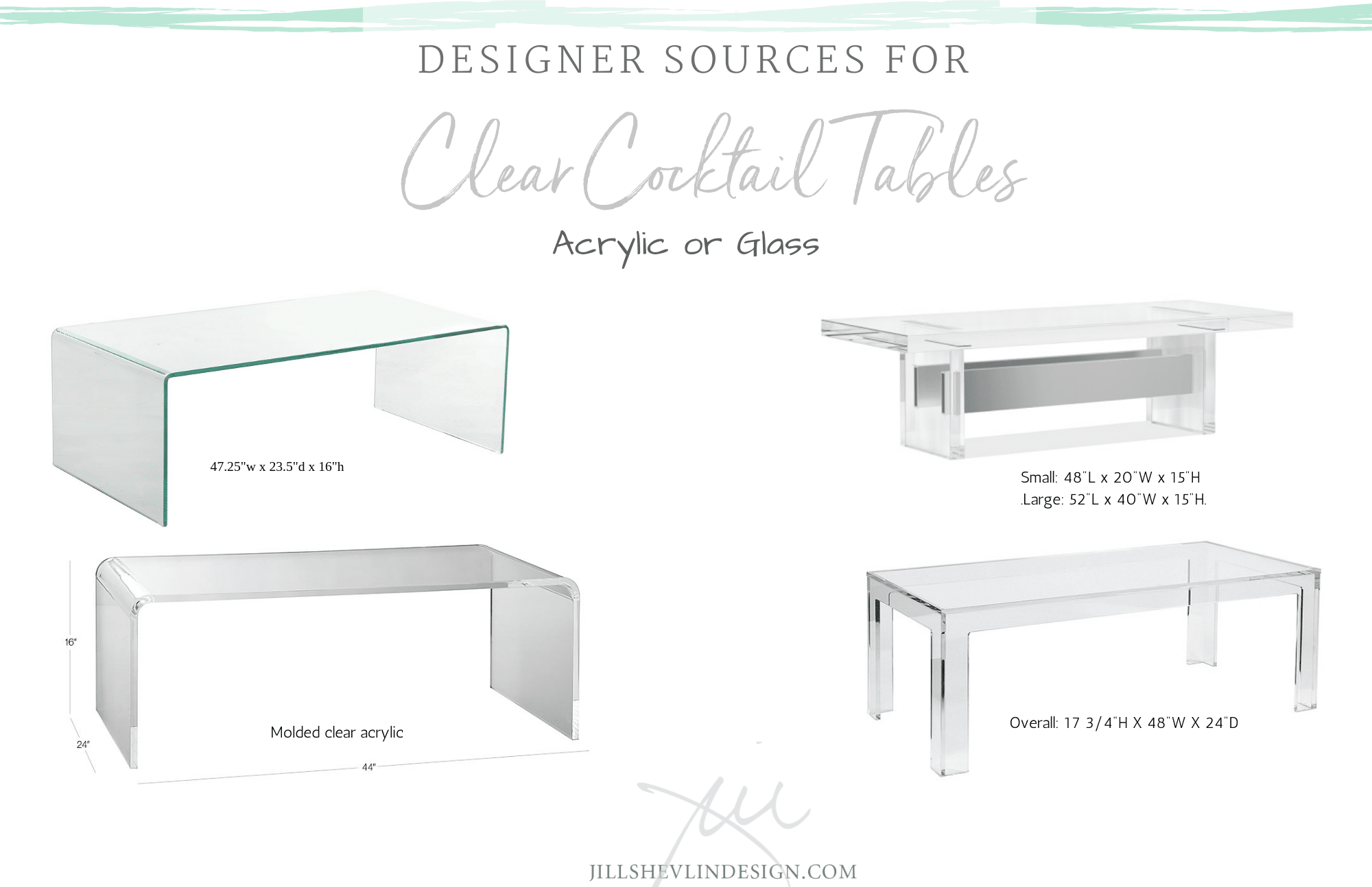 Designer Source for Clear Cocktail Tables Vero Beach Interior Designer Jill Shevlin Design