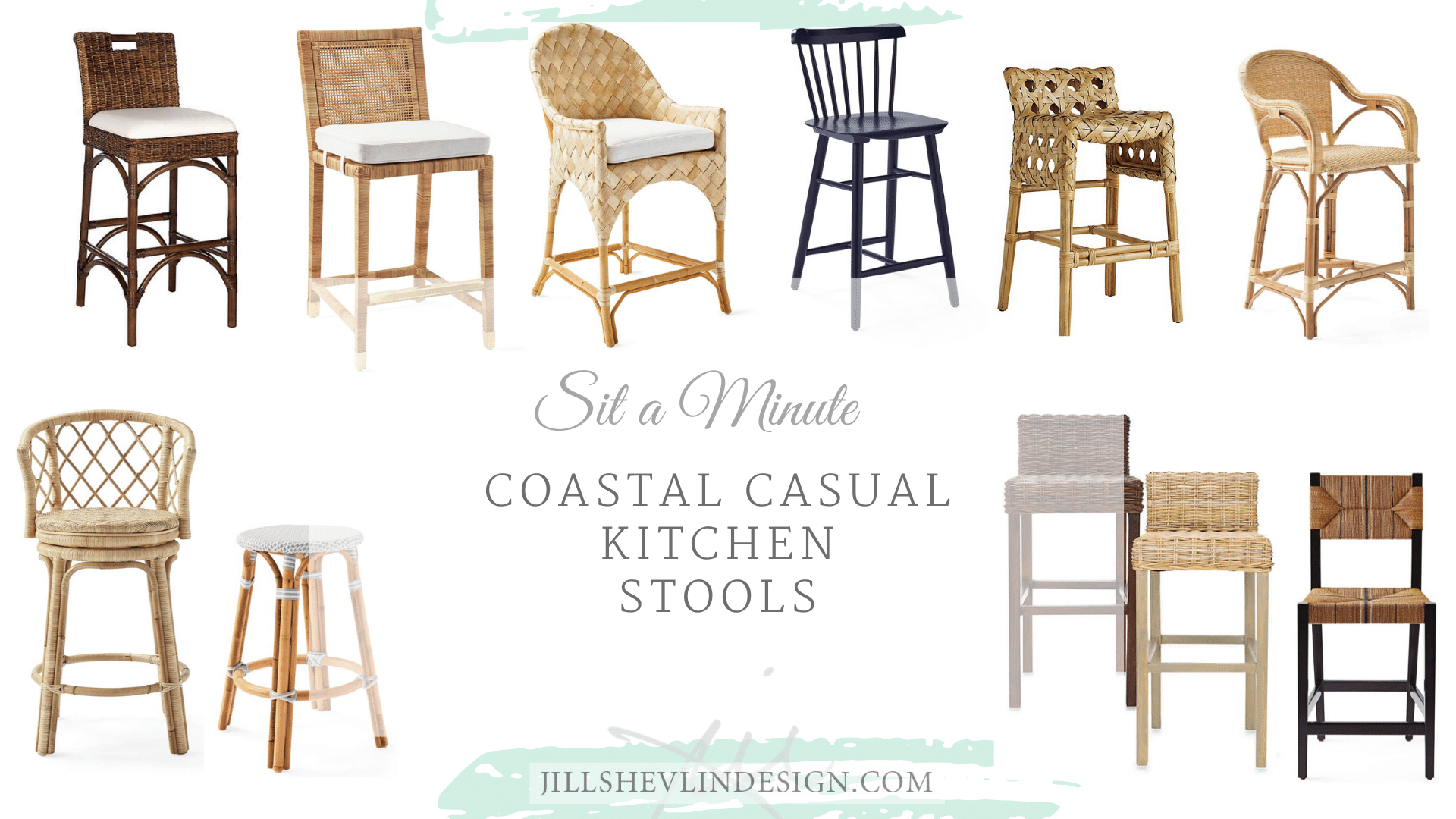 Coastal bar stools Jill Shevlin Design