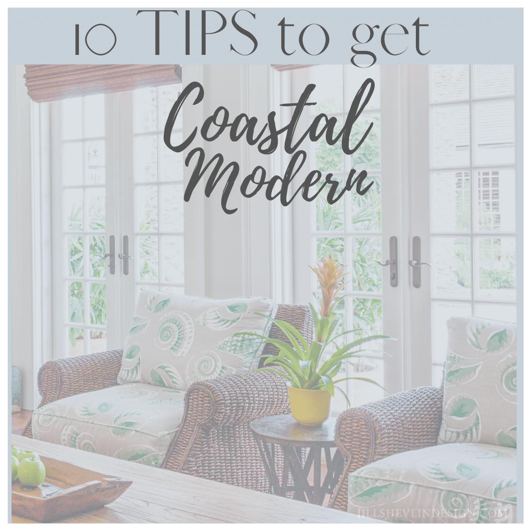 Coastal modern with wicker Jill Shevlin Design Shop vero beach home decor