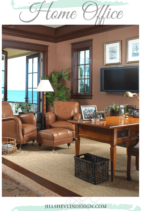 His office ocean Front Home Office Jill Shevlin Design Vero Beach interior Designer (3)