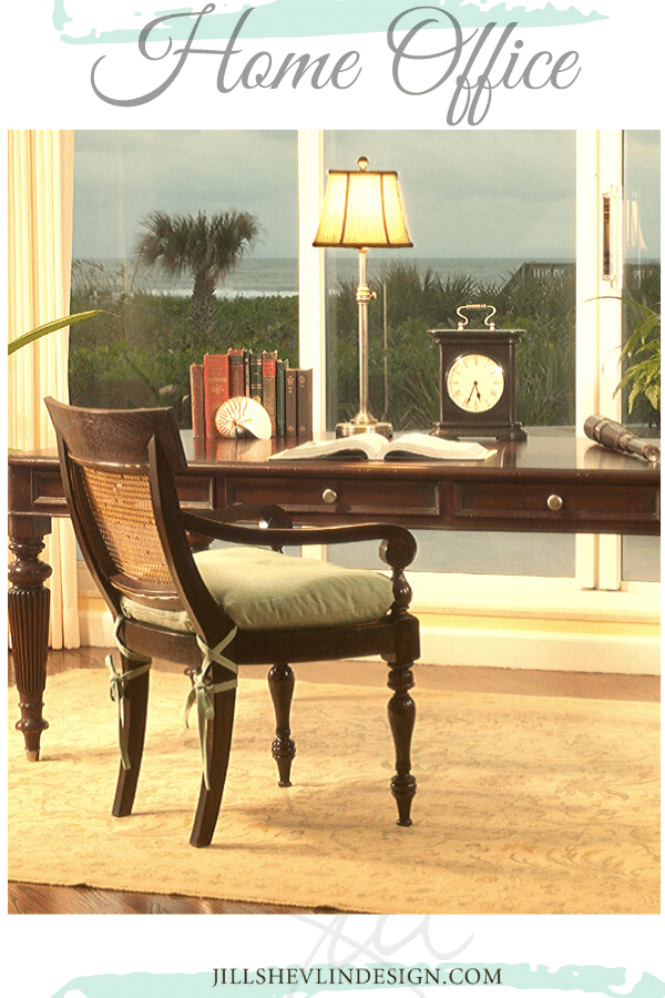OCean Front Home Office Jill Shevlin Design Vero Beach interior Designer Online and E Design services