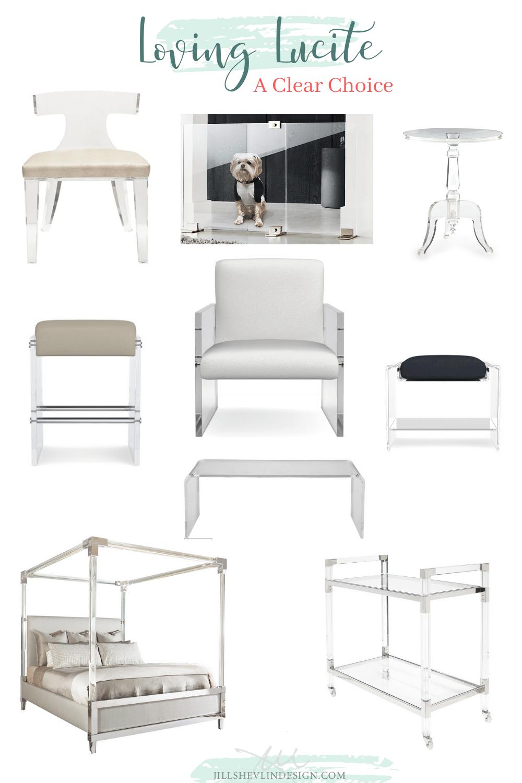 loving Lucite Jill Shevlin Design Vero Beaach Interior Designer Home Furniutre and Decor