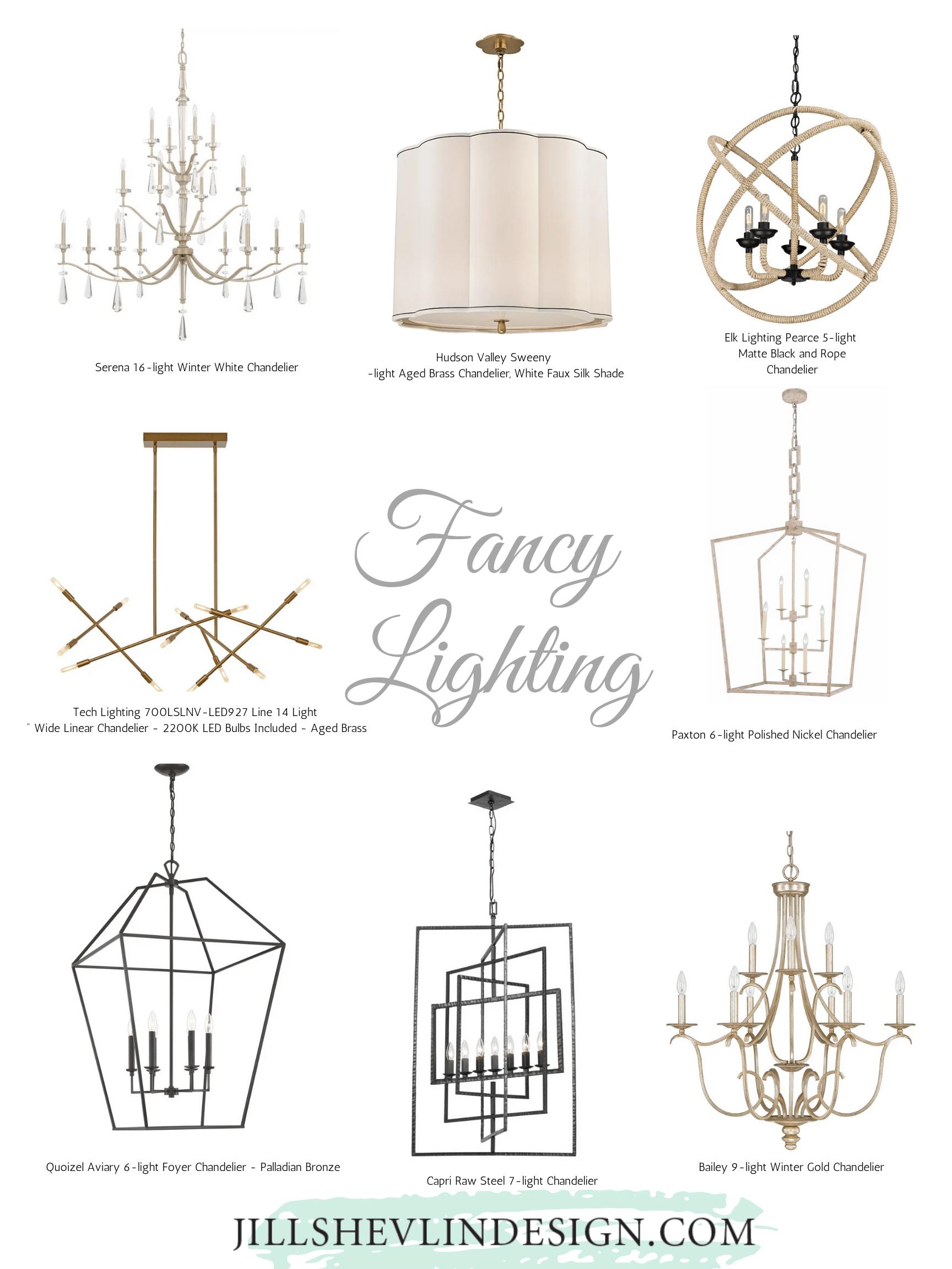 Fancy Chandeliers  all styles coasta modern, traditional, modern linear, lantern style lighting jill shevlin design vero beach