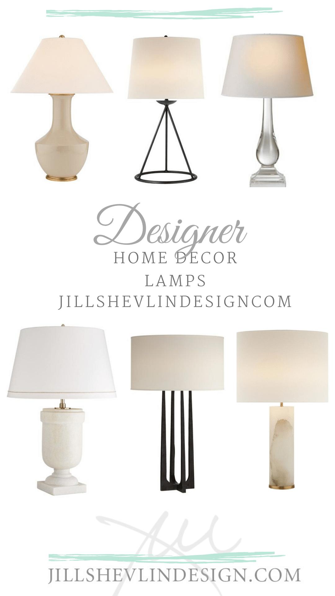 designer sourced lamps, interior designer jill shevlin vero beach designer lamps designer home decor