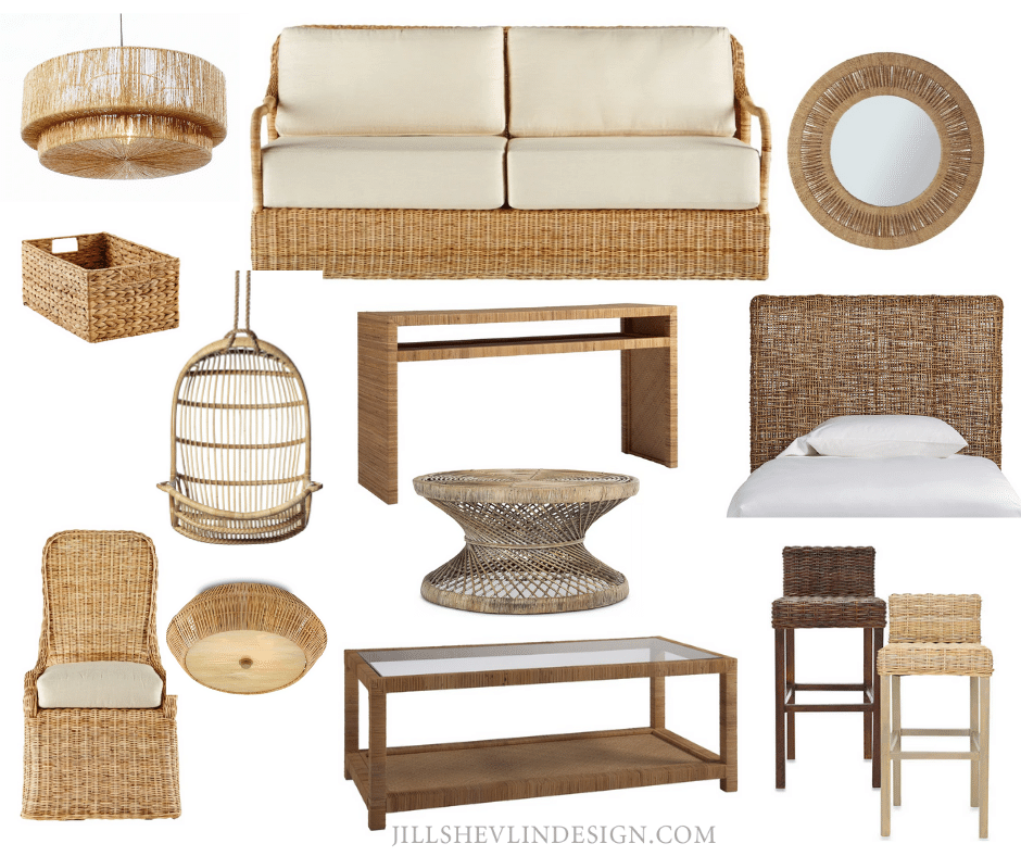 why not wicker - natural fiber finds shop vero beach home decor jill shevlin design vero beach interior designer