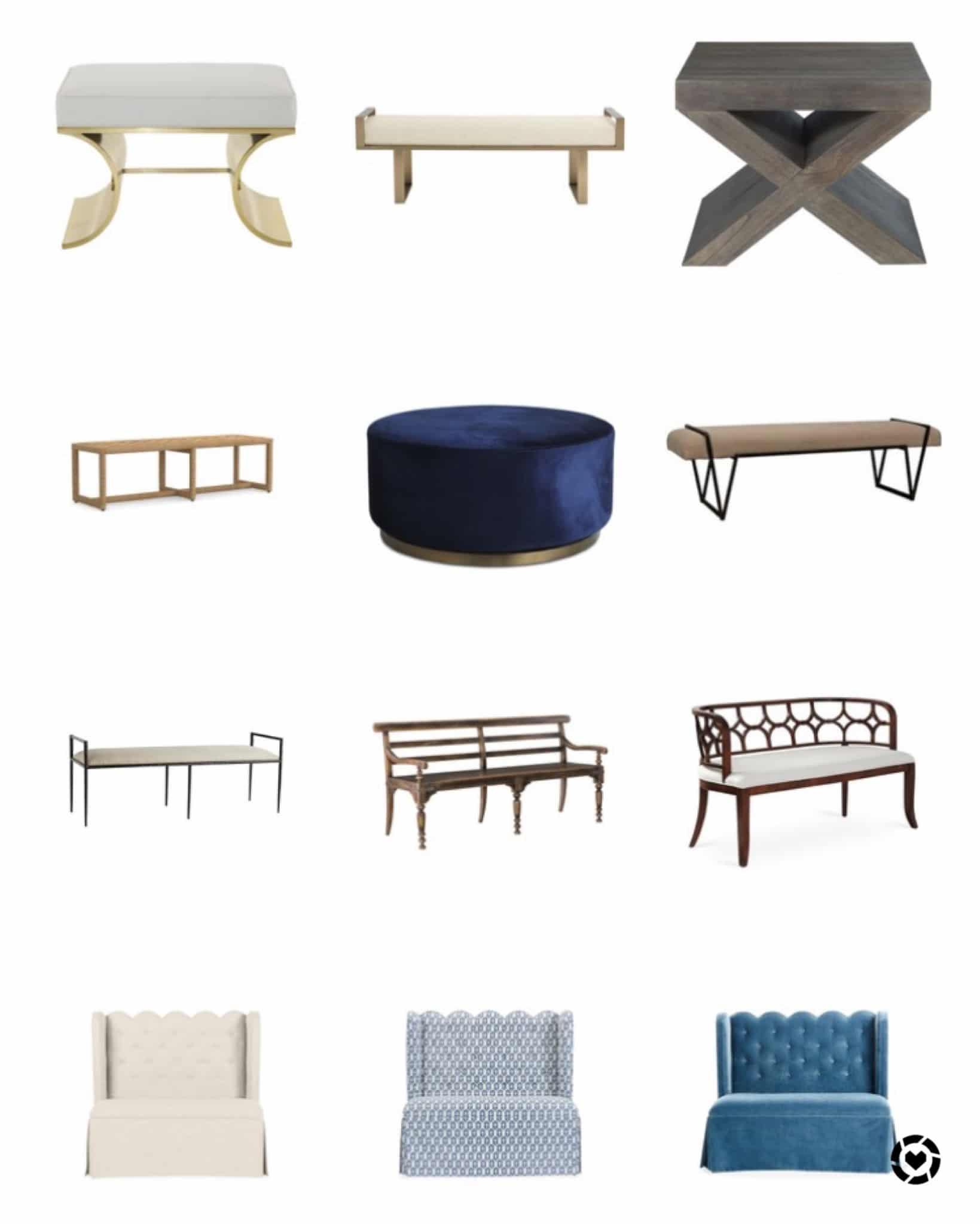 Benches and Settees Jill Shevlin Design Vero Beach